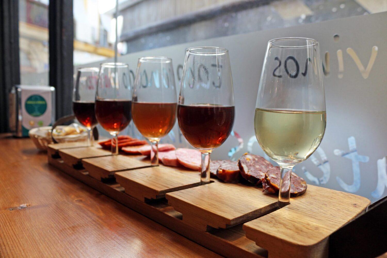 degustación de vino sherry